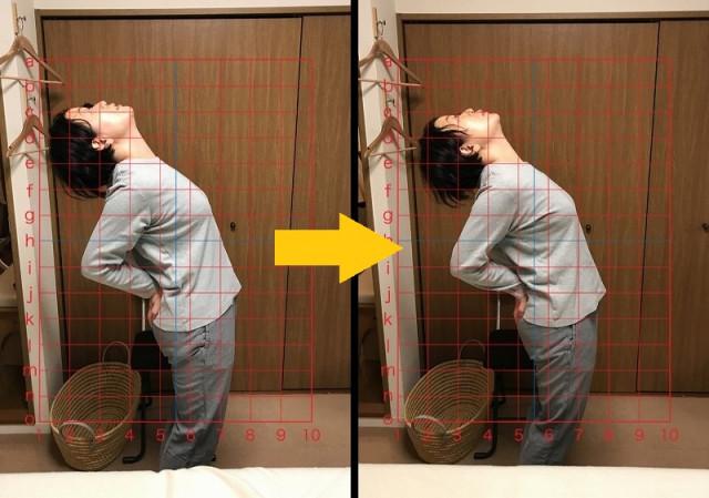 腰を反らせる角度の変化2